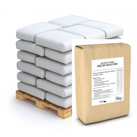 Mączka bazaltowa - paleta - 40 x 25 kg