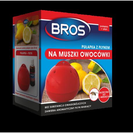 Pułapka na muszki owocówki z płynem - Bros